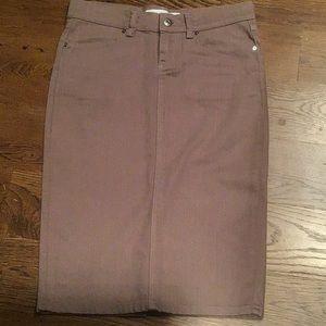 Zara Basic pencil skirt in denim fabric
